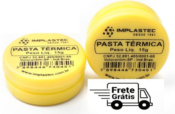 Pasta Termica 15g Pote Implastec Cooler Processador P/ Pc