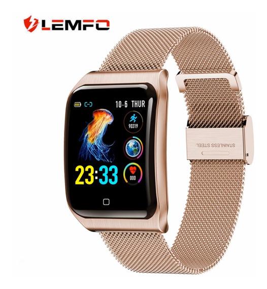 Lendo F9 Relógio Inteligente Ip68 Monitor De Freq. Cardiaca