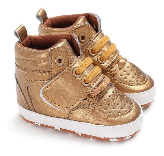 Sapatinho De Bebê Cano Alto Sneaker Infantil Menino Menina