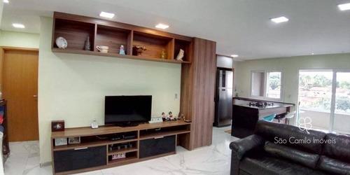Apartamento Com 3 Dormitórios À Venda, 120 M² Por R$ 450.000,00 - Granja Viana - Cotia/sp - Ap0214