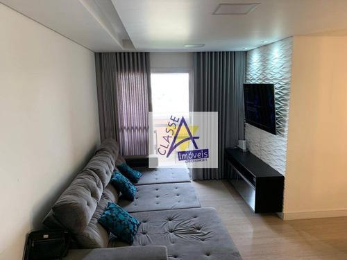 Imagem 1 de 28 de Apartamento Com 3 Dormitórios À Venda, 78 M² Por R$ 424.000 - Vila Noêmia - Mauá/sp - Ap0749