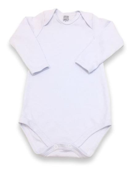 Body Infantil Bebê, 1 Ao 3 Anos, Manga Longa, Liso Branco