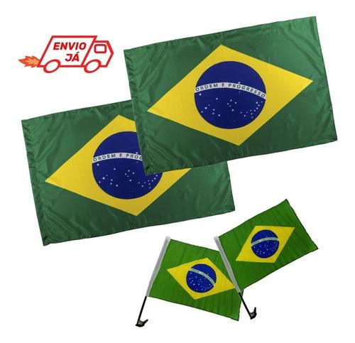 Imagem 1 de 2 de Kit Bandeiras Do Brasil Em Tecido