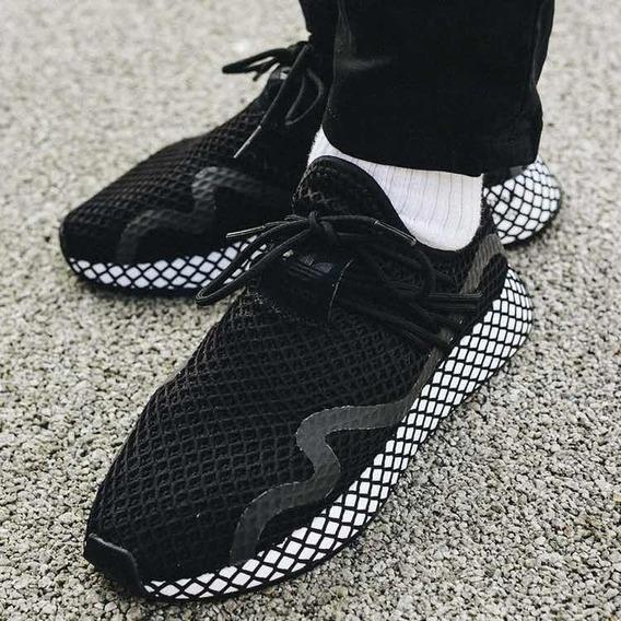 Adida Deerupt Negro Tenis Adidas para Hombre Lona en
