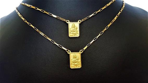 Escapulário Em Ouro 18 0.750