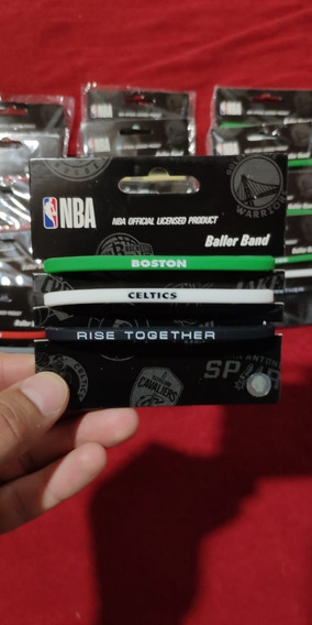 Pulseras De Goma Nba Lakers, Warrios, Boston, Toronto Y Mas