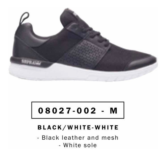 Zapatillas Supra Scissor Black/white Originales