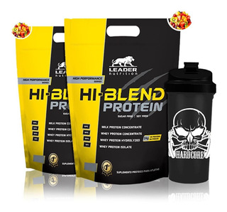 Combo 2x Hi Blend Protein 1,8kg + Coq - Leader Nutrition
