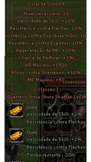 Colar De Ouro +9 War