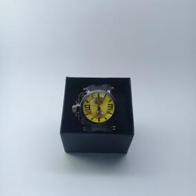 Relógio Oakley Preto Com Amarelo / Qualidade