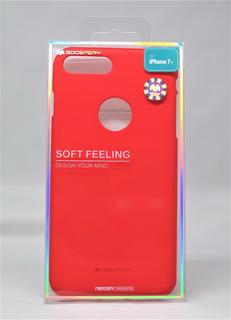 Funda iPhone 7 Plus Mercury Goospery Soft Feeling Rojo