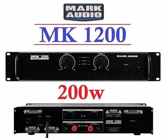 Amplificador Potência Mark Audio / Attack Mk1200 200wrms