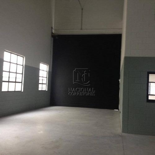 Galpão Para Alugar, 526 M² Por R$ 18.000/mês - Vila Valparaíso - Santo André/sp - Ga0662