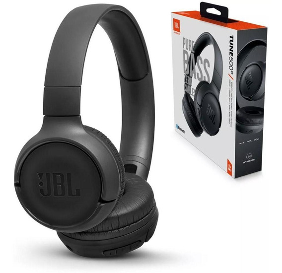 Fone Jbl Tune 500bt Bluetooth Pure Bass Preto Jblt500btblk