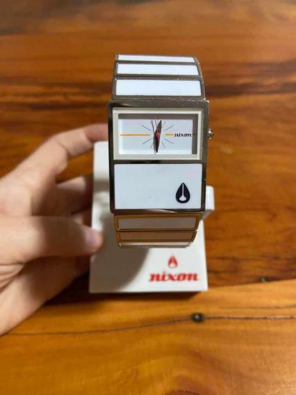 Relógio Nixon Branco Em Metal Original Novíssimo