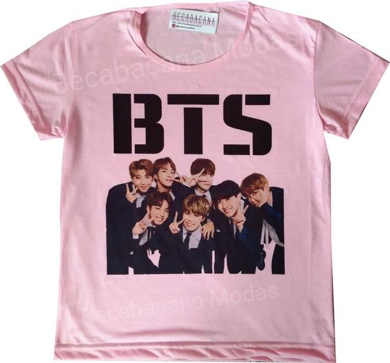 Blusa Camiseta Feminina Baby Look Bts Kpop Jimin Barato