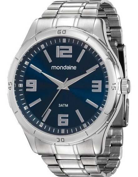Relógio Mondaine Masculino Prata Original Barato