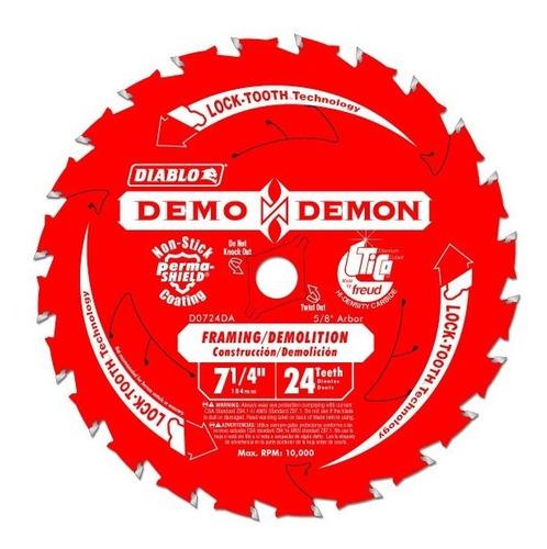 Disco Sierra Diablo 71/4'', 24 Dientes Demo Demon, El Mejor