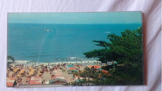 Tarjeta Postal De Playa Grande Mar Del Plata