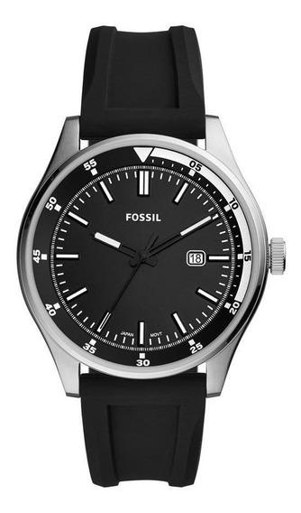 Relógio Masculino Fossil Fs5535/8kn 44mm Silicone Preto