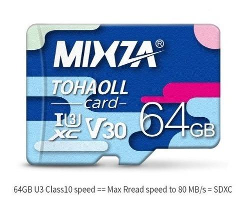 Cartão Micro Sd 64gb 80mb/s Mixza Classe 10 Original