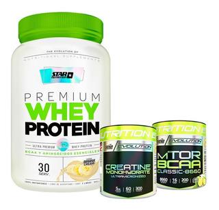 Proteina Star 2 Lb + Creatina 300g + Bcaa Mtor Classic