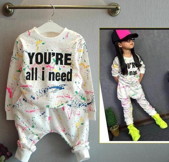 Roupas De Bebe Menina Conjunto Moletom Infantil Blogueira