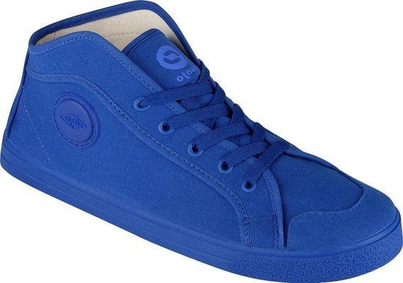 Tênis Cano Alto Azul Royal Sola Azul Royal Promoção Botinha