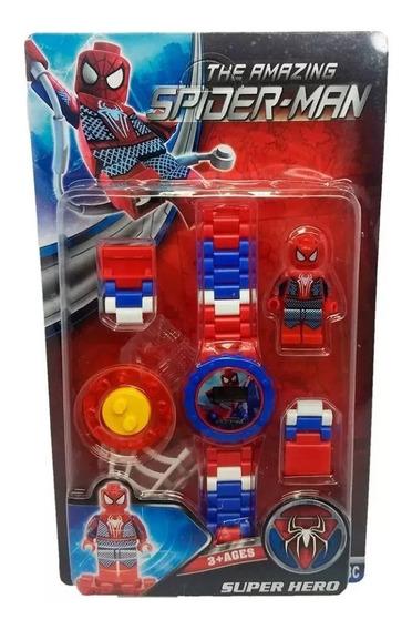 Relógio Digital Infantil Homem Aranha + Lego