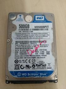 Hd De Notebook 500gb Wester Digital Wd5000bpvt