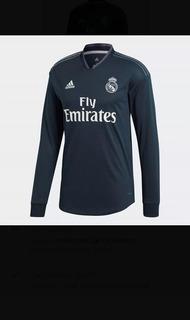 Jersey Real Madrid Climachill Manga Larga Negra Original