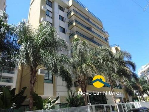 Imagem 1 de 15 de Excelente Apartamento  Todo Montado Com Lazer Próximo A Praia De Charitas - 107