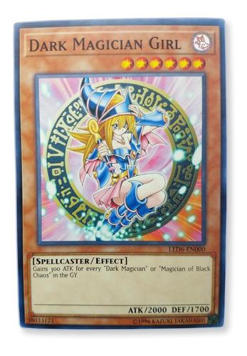 Imagen 1 de 1 de Yugi-oh! Dark Magician Girl Led6-en000 Comun