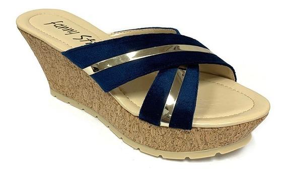Sandalias Fanny Stile Dama Azul Fs 0590 Corpez 32