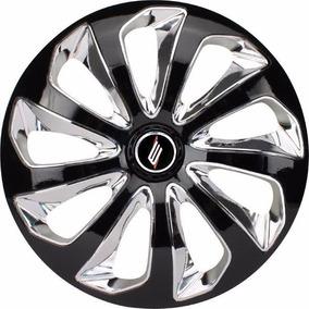 Jogo Calota Velox Aro 14 Compativel Ford Volks Fiat Gm Chevr