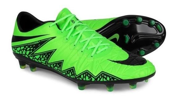 Chuteira Campo Nike Hypervenom Phinish Fg - Verde (usada 2x)