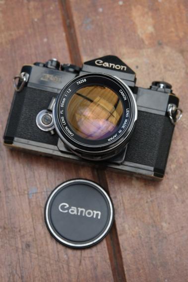 Canon F1 Com 55mm 1.2 Fl E 35-70mm F2.8-3.8 Macro