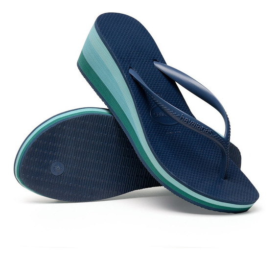 Chinelos Havaianas High Light Salto Alto 6cm - 1080 Original
