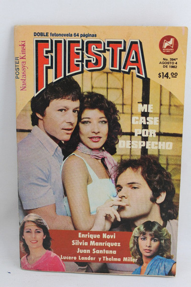 L2731 Fotonovela Fiesta Numero 394 Me Case Por Despecho