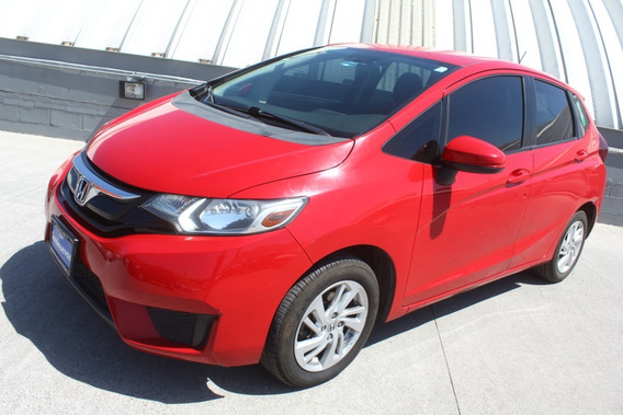 Honda Fit Fun Mt 2015 Rojo Impecable Con Garantia De Agencia