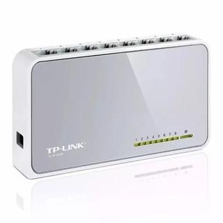 Switch 8 Bocas Tp-link Tl-sf1008d 10/100 Mbps 8 Puertos