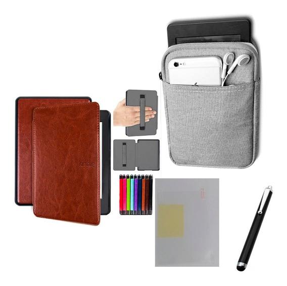 Capa Case Kindle Paperwhite (10ªg)- Marrom Alça + Bolsa