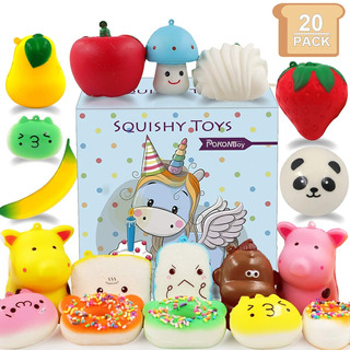 Mini Squishies Squishy Toys - 20 Pack Mini Cute Cream S...
