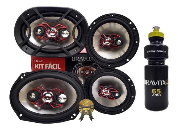 Kit Fácil X Bravox 6x9 E 6 240w Rms Linha X + Brinde