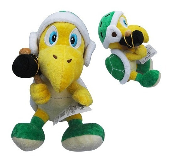 Pelúcia Tartaruga Hammer Bros 25 Cms - Mario Bros - Nintendo