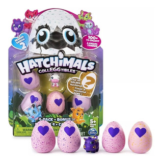 Hatchimals Pack 4 Huevos + Figura