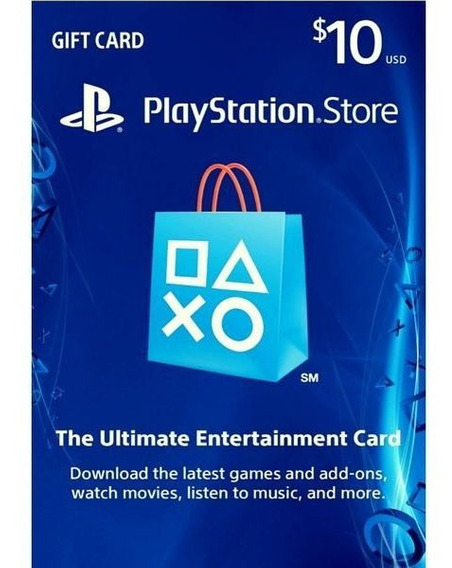 Tarjeta Psn Card 10 Usd Usa Giftcard Playstation Ps4 Y Ps3
