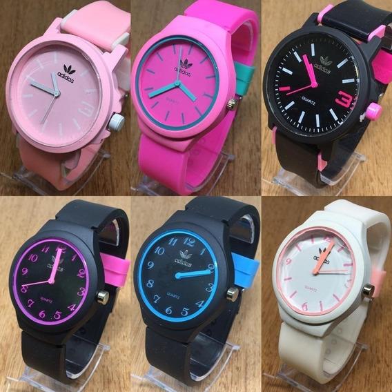 Kit 10 Relógio Feminino Colors+brinde Revenda