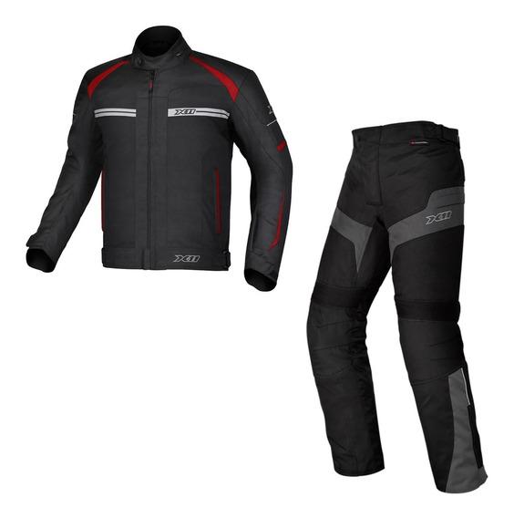 Combo Jaqueta E Calça Impermeável X11 Para Motociclista
