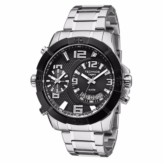 Relógio Technos Masculino Legacy Dual Time T205fk/3p